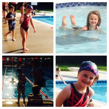 I love how she Flexes in almost every Swim Picture. Feeling strong and Proud as she should!!
